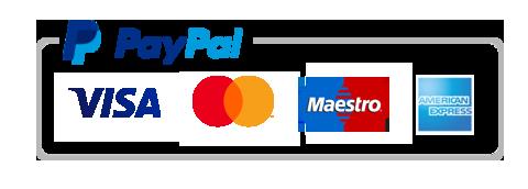 Paga con PayPal e Carte di credito